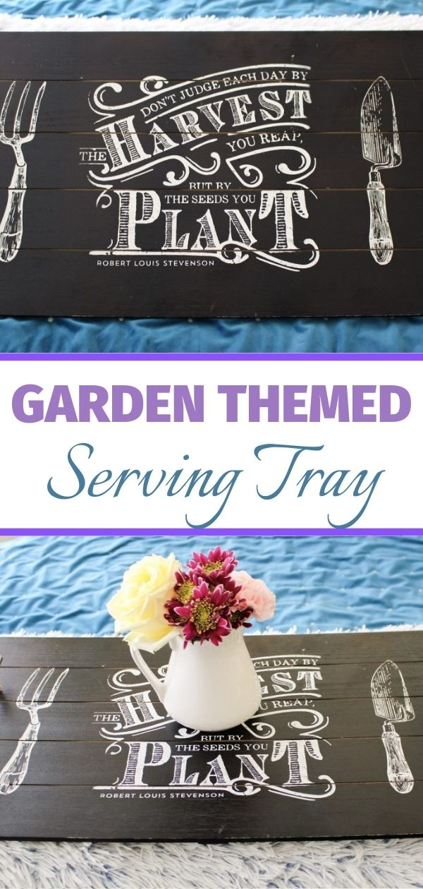 garden themed serving tray