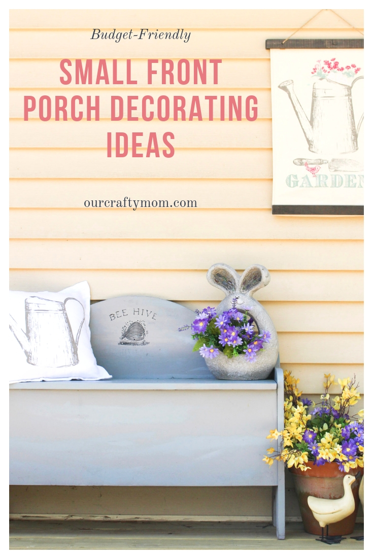 Budget-Friendly Small Front Porch Decorating Ideas #ourcraftymom