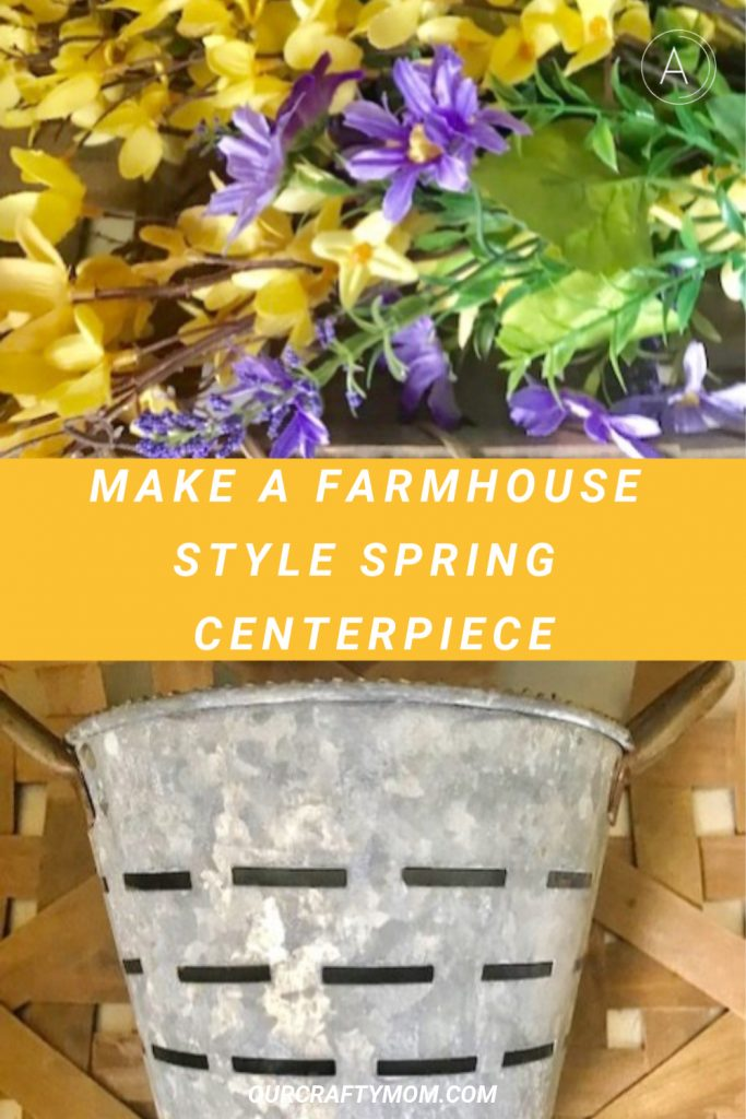 farmhouse style spring centerpiece