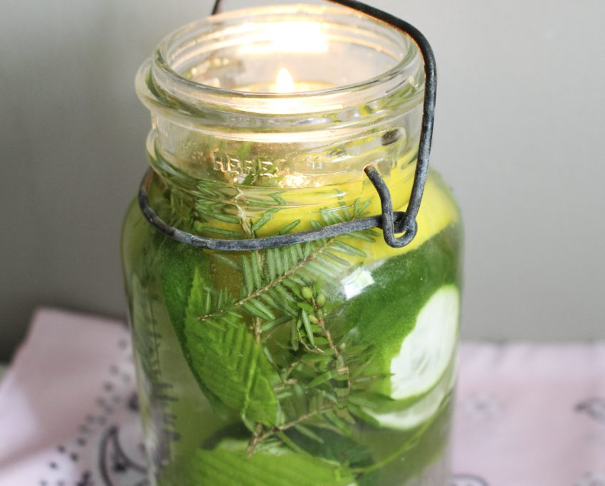 close up mason jar