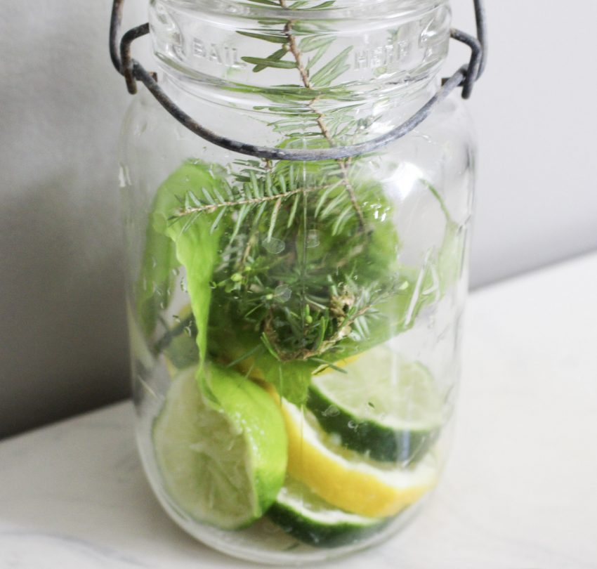lemons and limes in mason jar
