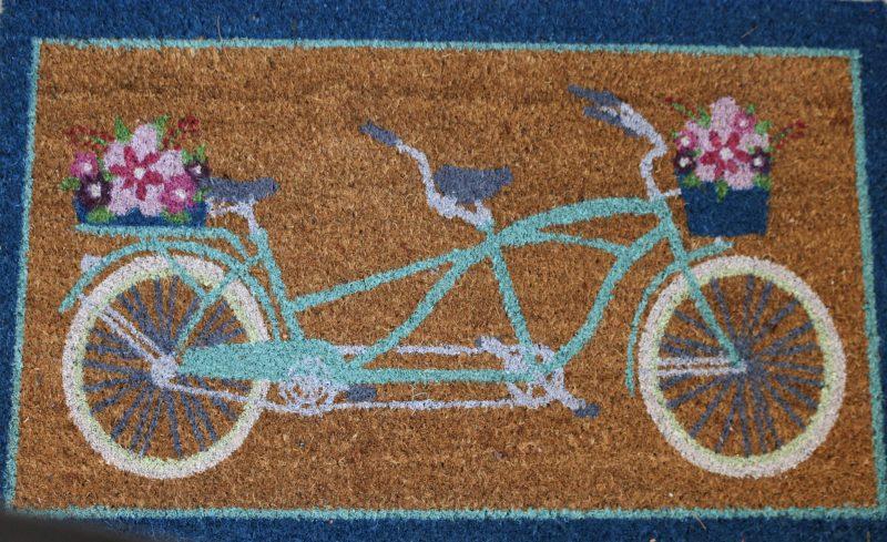 spring rug front porch