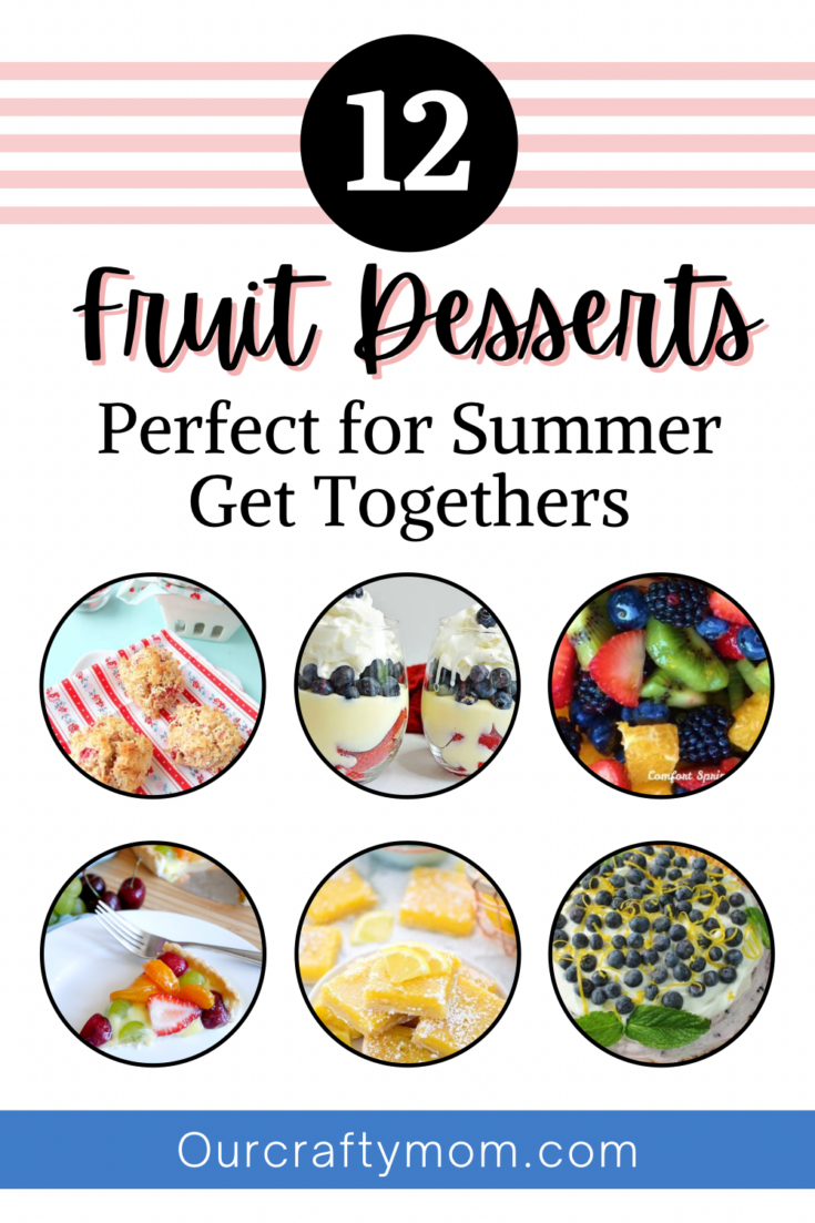 Collage of summer fruit recipes