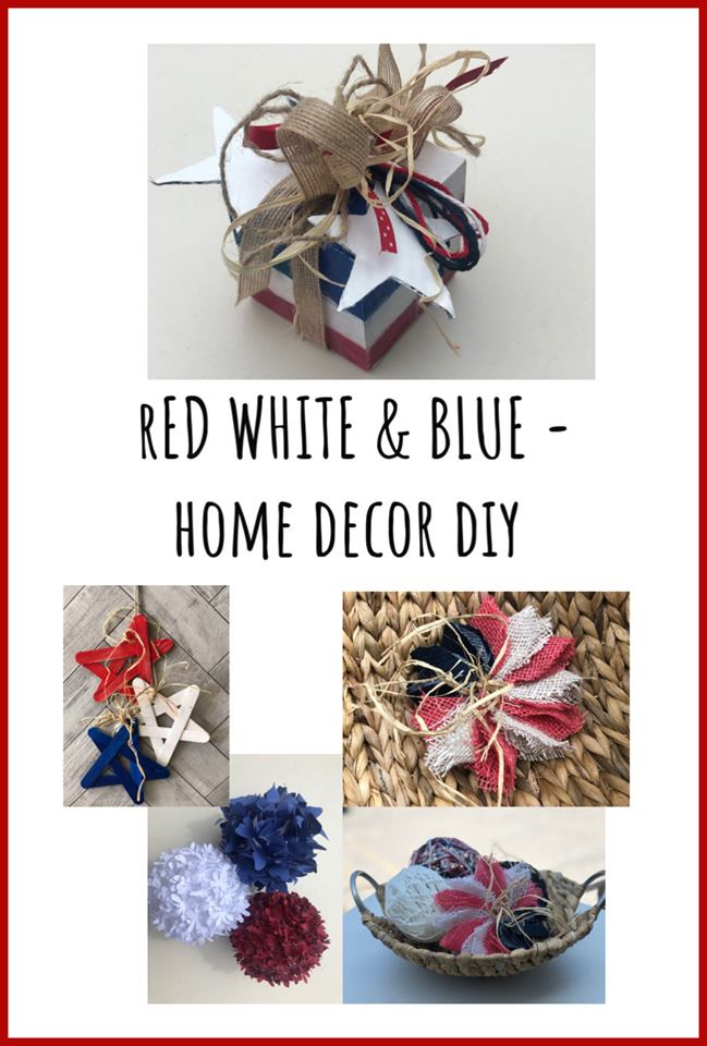 fourth of july dollar store decor