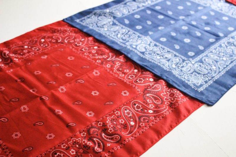 bandanas lined up