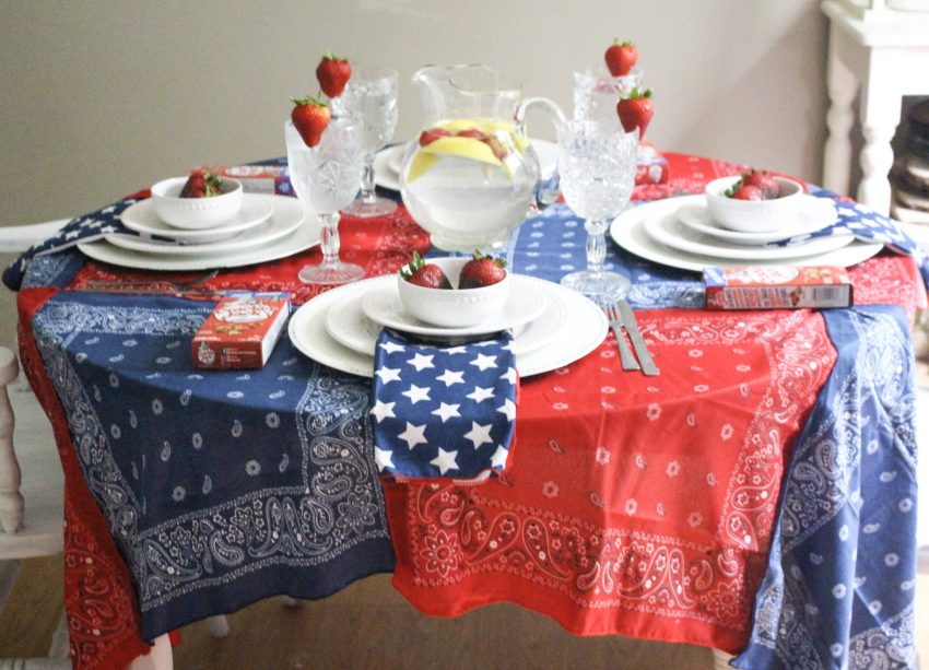 patriotic tablescape