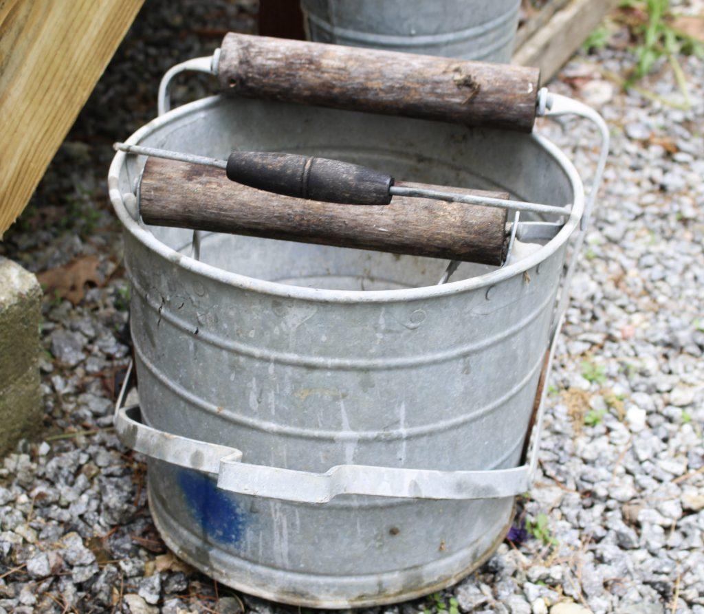 wash bucket before