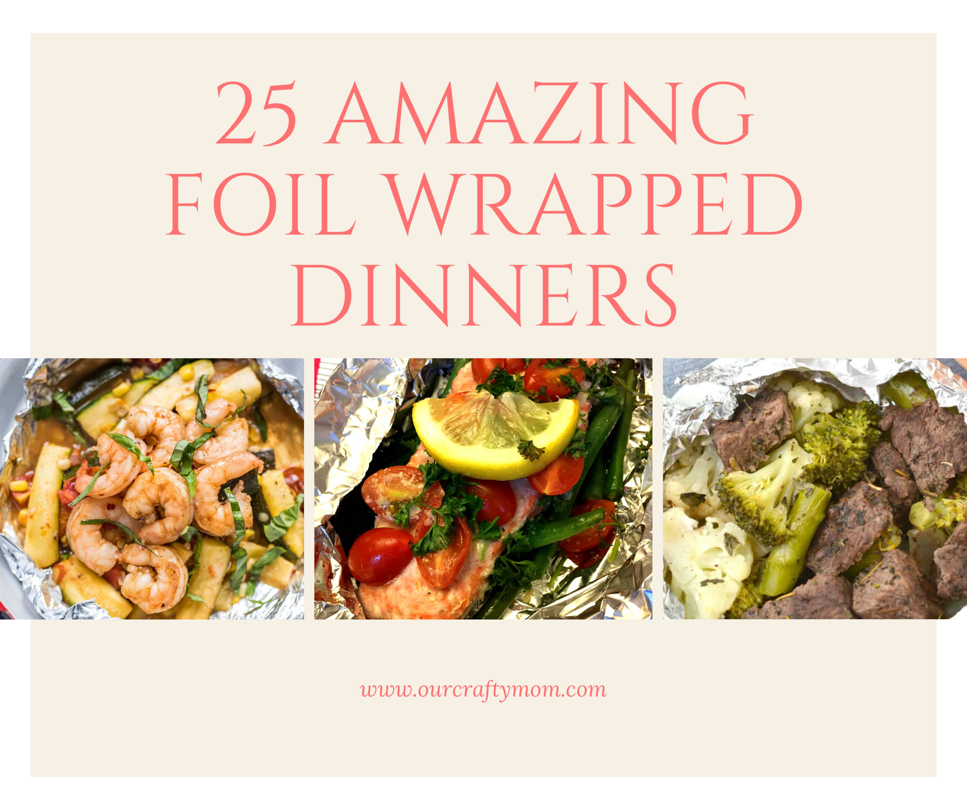 25 foil wrapped dinners