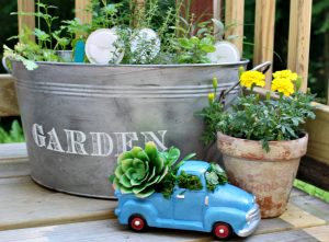 Make The Most Adorable Mini Truck Succulent Planter