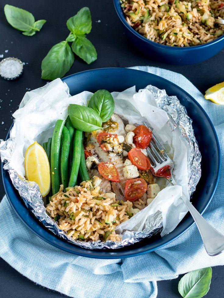 Mediterranean Fish Parcels Recipe