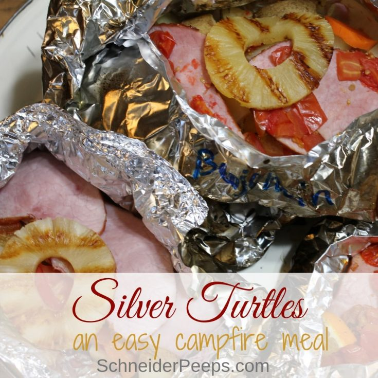 Silver Turtles - an easy campfire or tailgate party meal