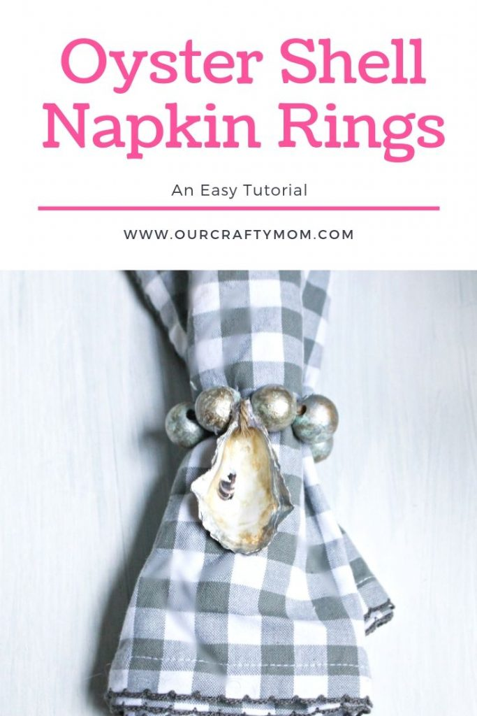 oyster shell napkin rings