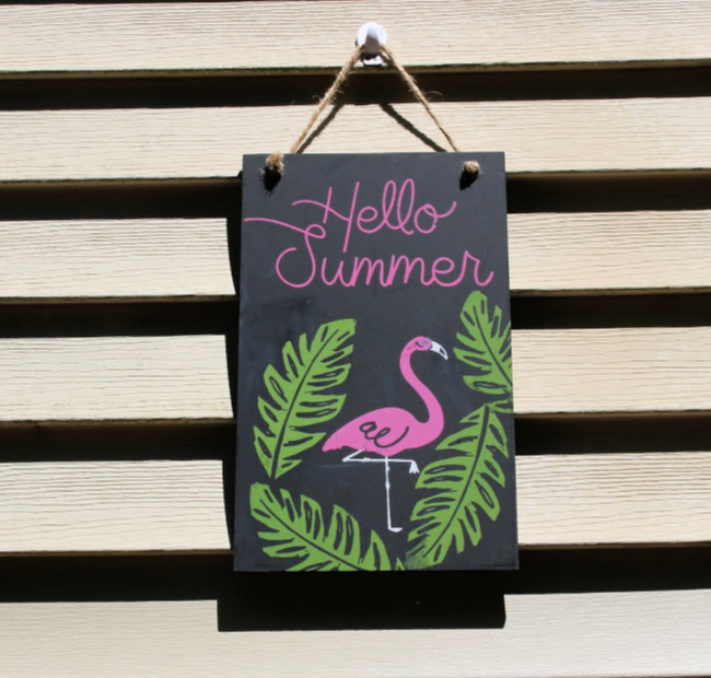 pink flaming summer sign inspired by subscription box