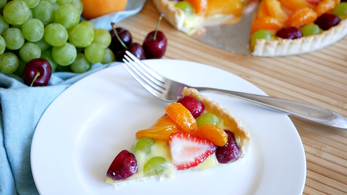 Fresh Fruit Tart with Orange Curd Recipe for Summer