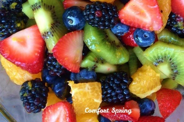 Summer Fruit Salad with Honey Lime Dressing