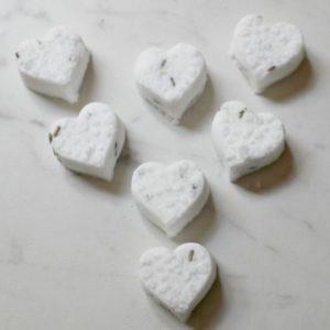 heart shaped shower melts
