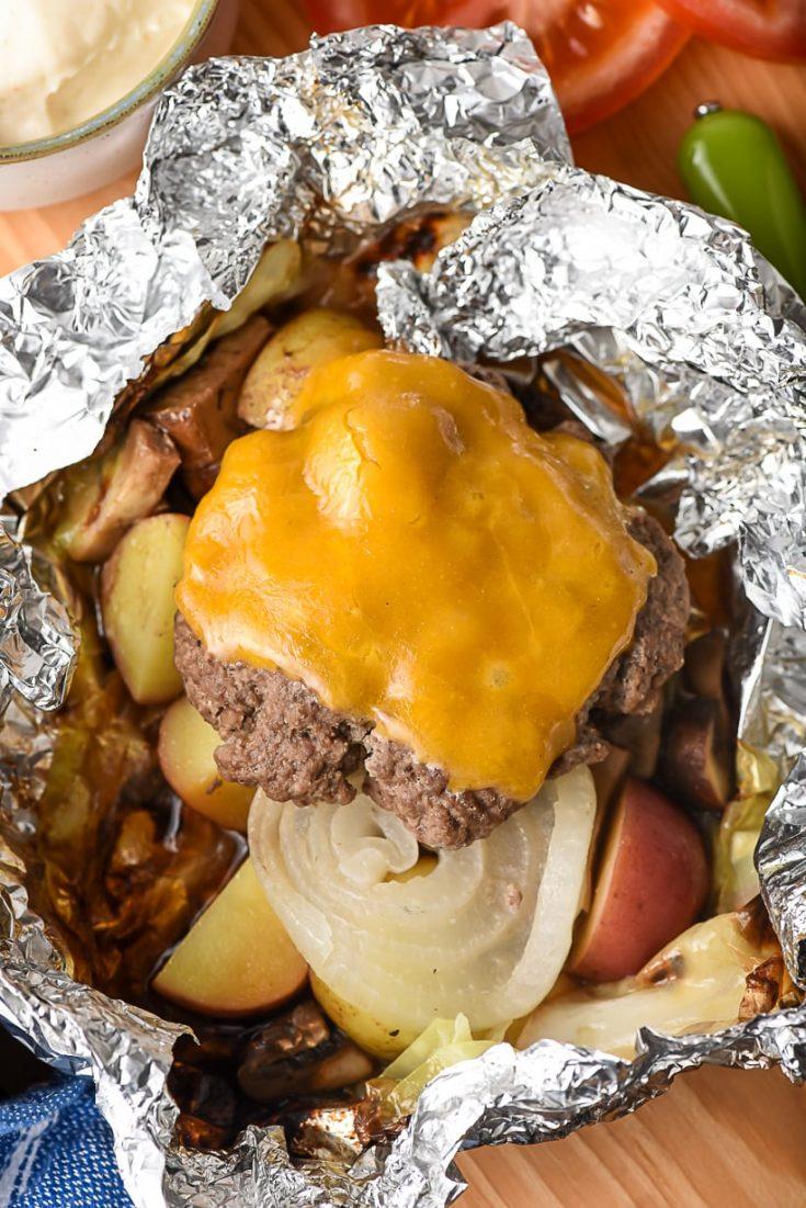 Hobo Dinner Hamburger Foil Packets