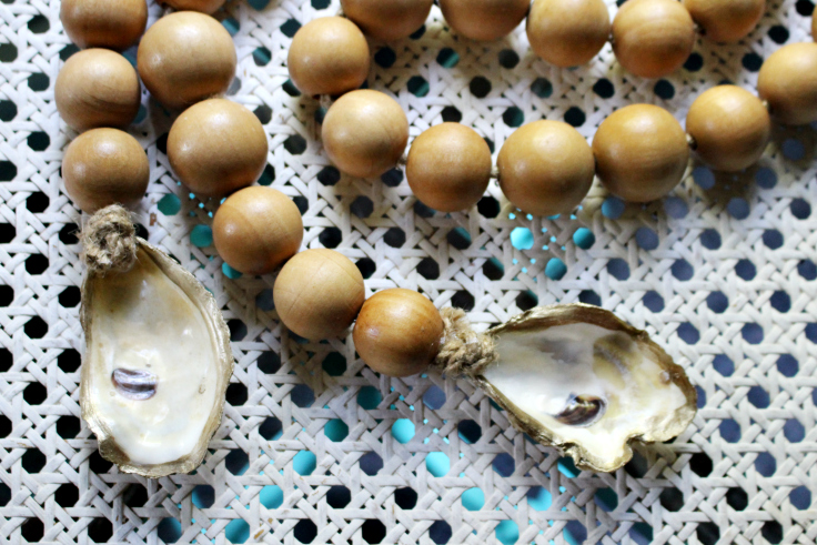 oyster shells with glaze