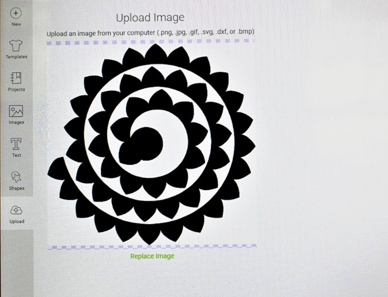 paper flower on computer