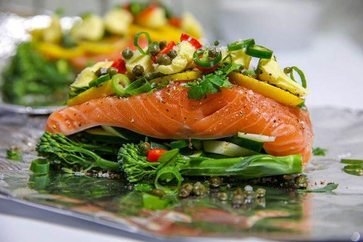 Oven Baked Salmon in Foil – Lemon & Herb