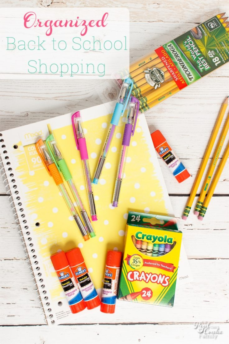 Real Organized Back to School Shopping - Tips and Printable