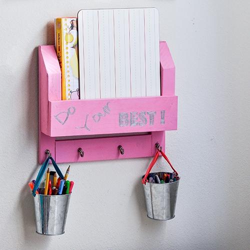 DIY Desk Organizer - How To Make A Homework Station