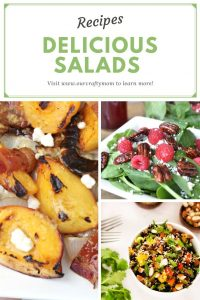 delicious salad recipes collage of three salads