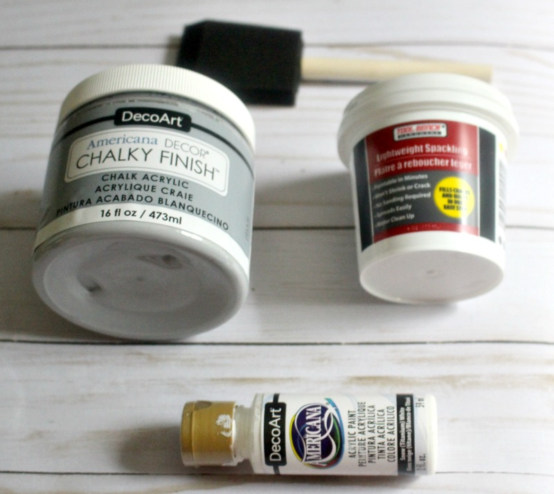 Dollar Store Paint Supplies for fall pumpkins