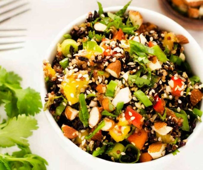 Thai Quinoa Salad With Black Rice