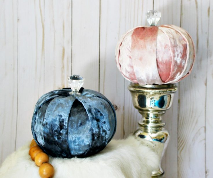 How To Make Beautiful DIY Dollar Store Velvet Pumpkins