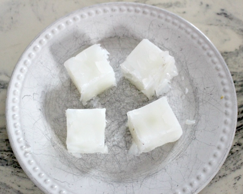 goats milk cut in cubes