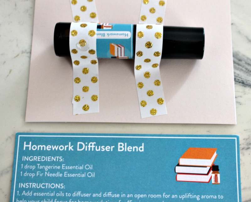 homework blend essential oil teacher gift