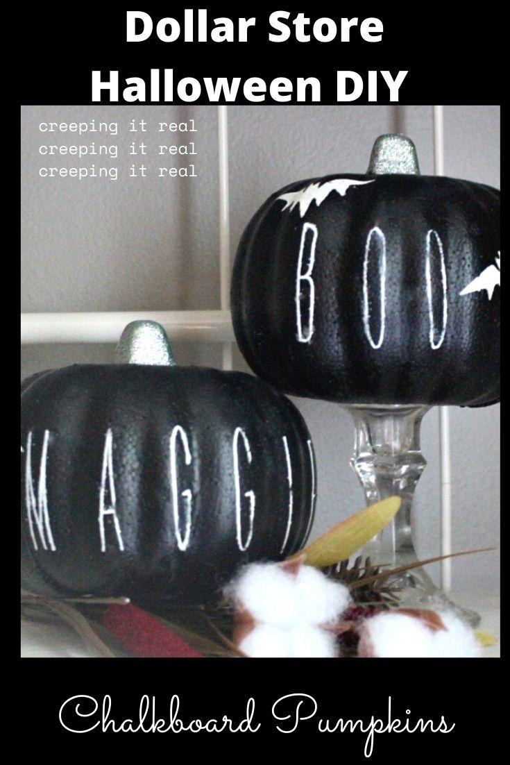 rae dunn chalkboard pumpkins
