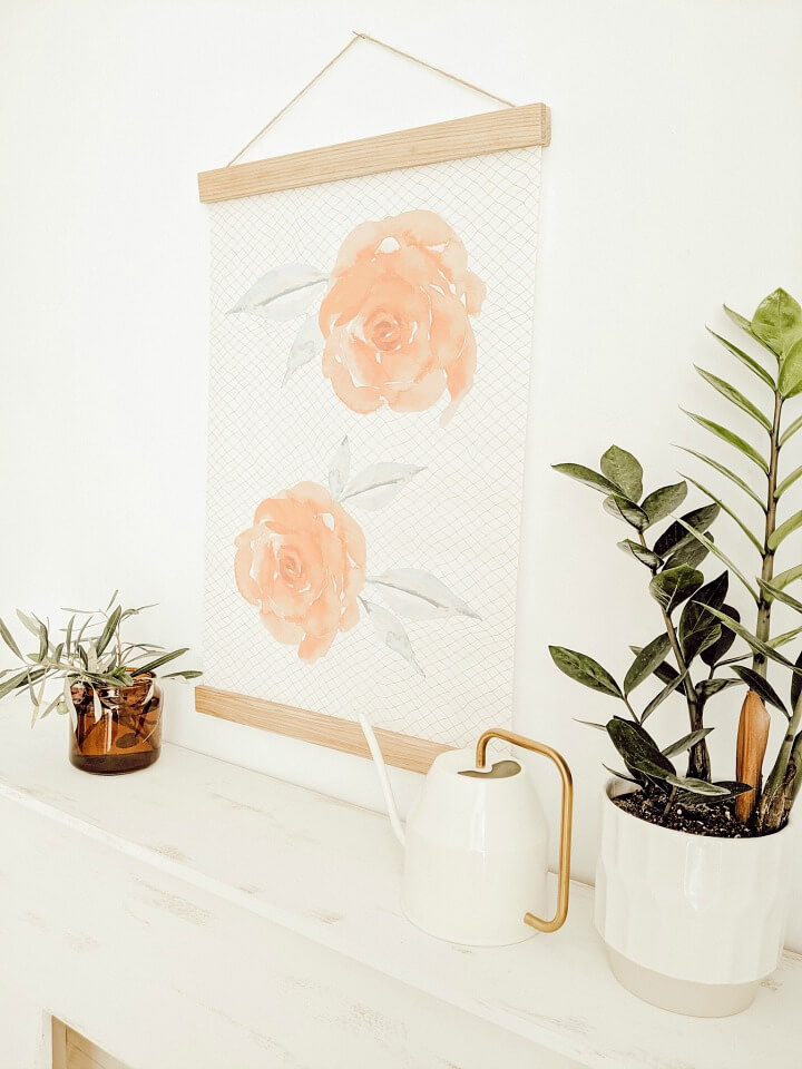 Transitioning into Fall: DIY Watercolor Rose Wall Poster