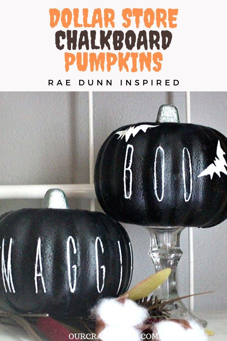 dollar store chalkboard pumpkins