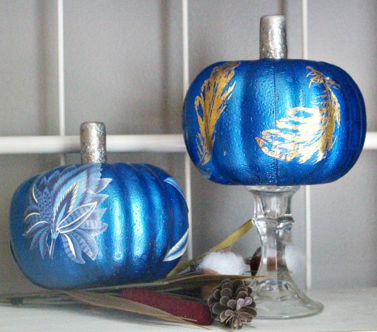 Decoupage Dollar Store Pumpkins