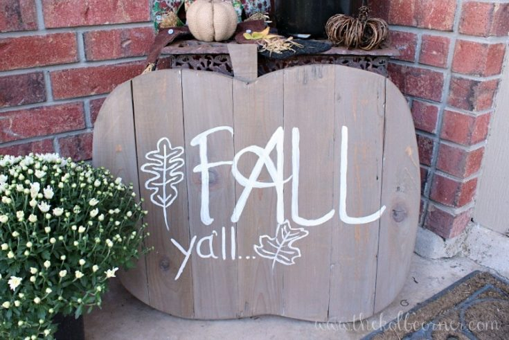 How to Make a Wooden Pumpkin Fall Sign