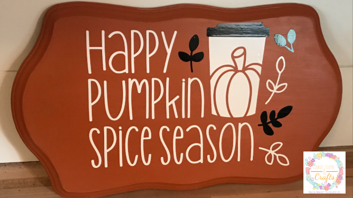 Happy Pumpkin Spice Sign for Fall