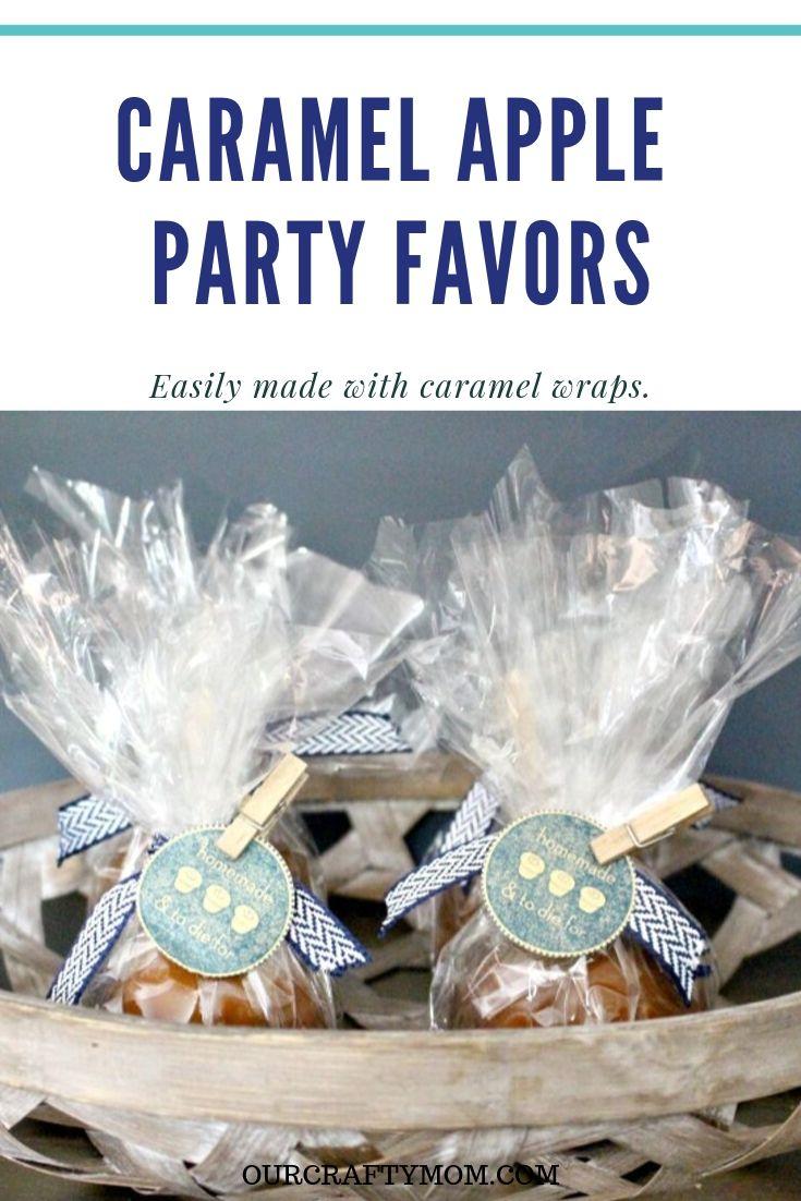 caramel apple party favors