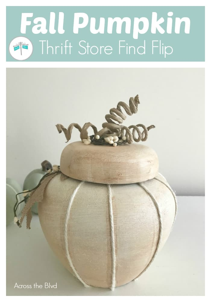 Repurposed Ceramic Jar into a Fall Pumpkin