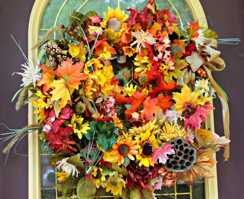 large fall wreath