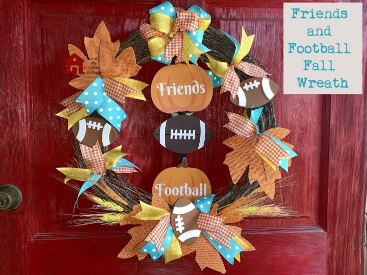 Friends and Football Fall Wreath