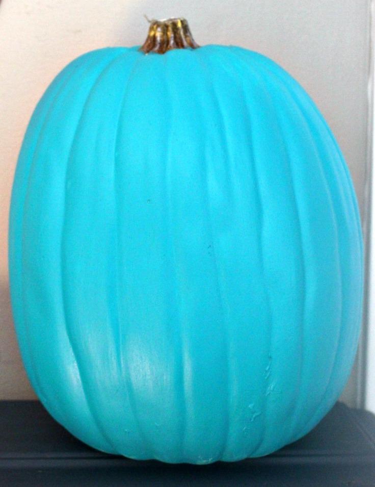 painted teal pumpkin