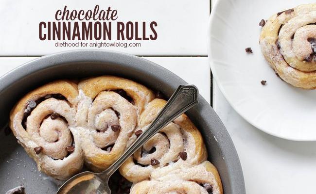 Chocolate Cinnamon Rolls | A Night Owl Blog