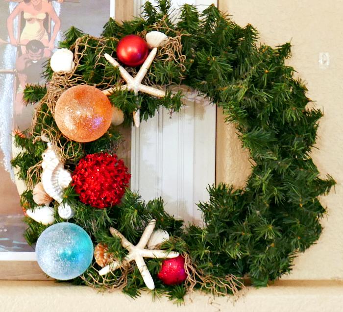 Coastal Ocean Christmas Wreath - 12 Days of Christmas