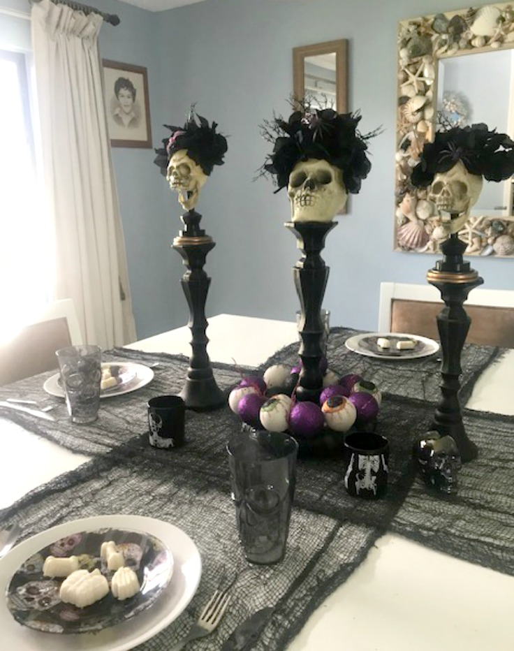 Day of the dead halloween table