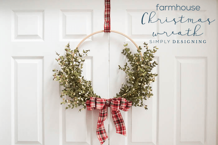 How to make a Farmhouse Christmas Wreath