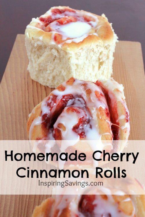 Easy Homemade Cherry Cinnamon Rolls