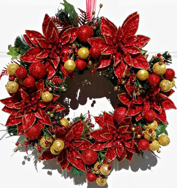 Poinsettia Christmas Wreath Tutorial