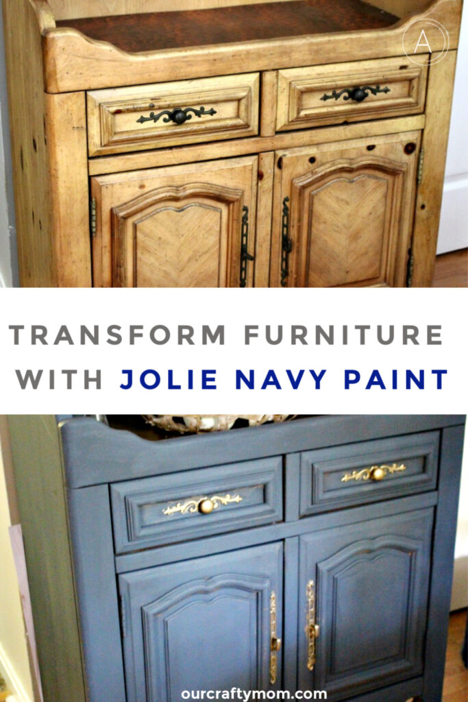 diy sideboard makeover with jolie paint